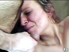 Crying slut gets a nice juicy facial